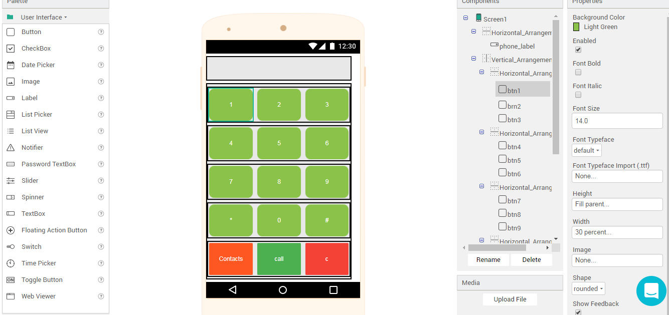 How to create a Dialer and Phone Call App with Thunkable